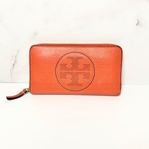 Tory Burch Perforated Logo Wallet